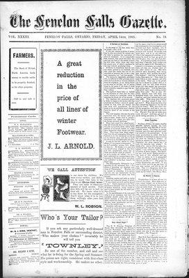 Fenelon Falls Gazette, 14 Apr 1905