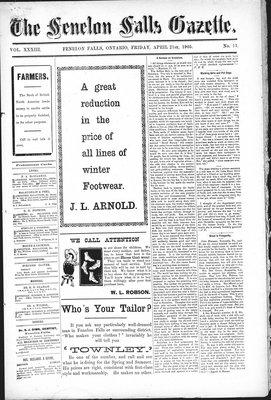 Fenelon Falls Gazette, 21 Apr 1905