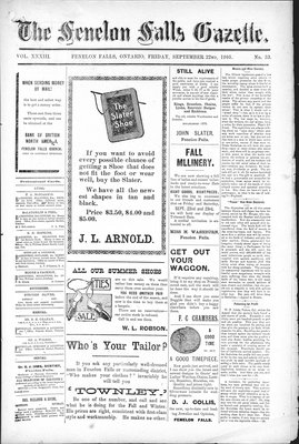 Fenelon Falls Gazette, 22 Sep 1905