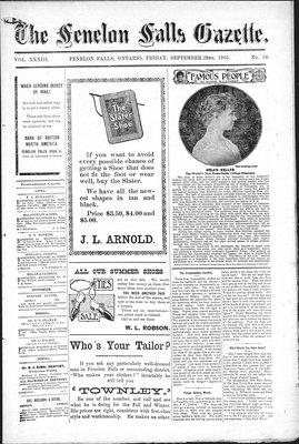 Fenelon Falls Gazette, 29 Sep 1905
