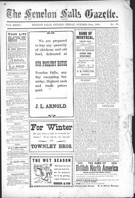 Fenelon Falls Gazette, 30 Oct 1908