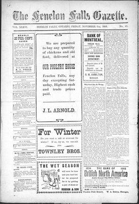 Fenelon Falls Gazette, 6 Nov 1908