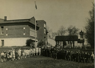 VE Day Little Britain Public School 1945