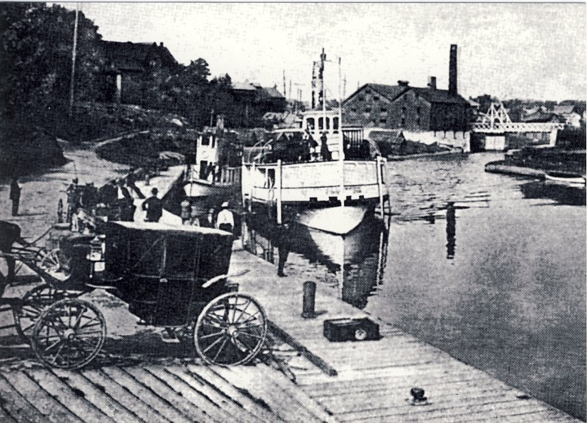 Early view of dock at McDonnell Park