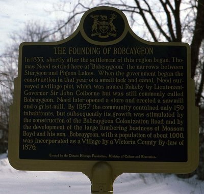Bobcaygeon Historic Plaque