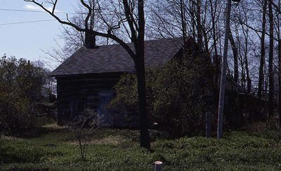Log cabin, Highway 35, Cameron