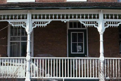 King S W, Omemee, Front porch detail