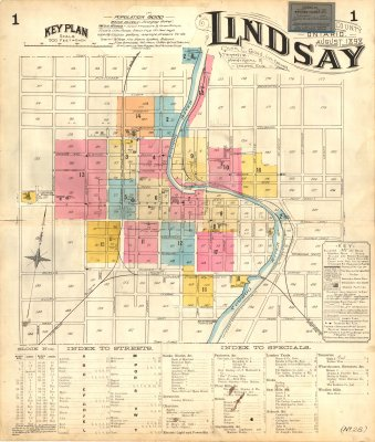 Fire Insurance Maps of Lindsay, Ontario - 1898