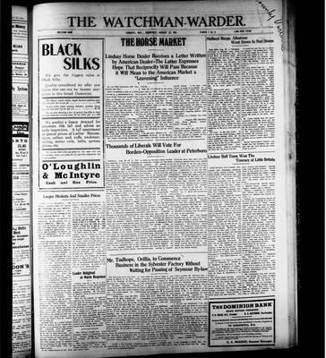 Watchman Warder (1899), 31 Aug 1911