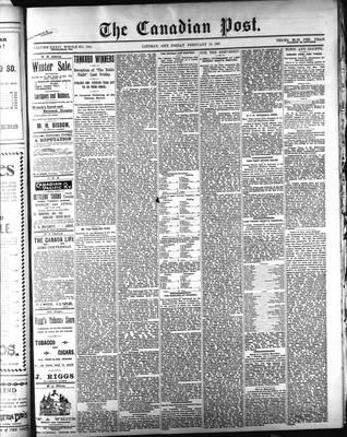 Canadian Post (Lindsay, ONT), 19 Feb 1897