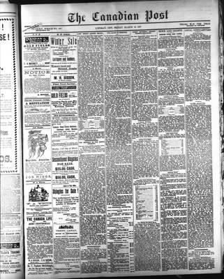 Canadian Post (Lindsay, ONT), 12 Mar 1897