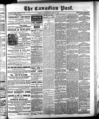 Canadian Post (Lindsay, ONT), 10 Apr 1891