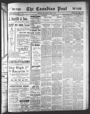 Canadian Post (Lindsay, ONT), 15 Apr 1898