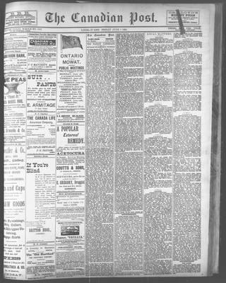 Canadian Post (Lindsay, ONT), 1 Jun 1894