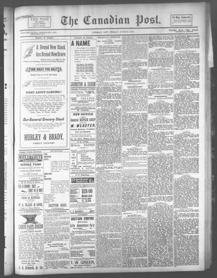 Canadian Post (Lindsay, ONT), 28 Jun 1894