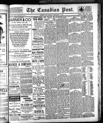 Canadian Post (Lindsay, ONT), 8 Sep 1893