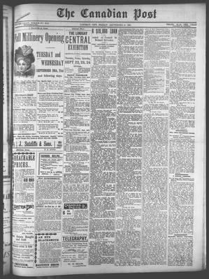 Canadian Post (Lindsay, ONT), 16 Sep 1898