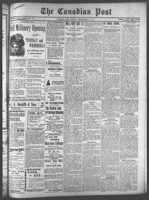Canadian Post (Lindsay, ONT), 23 Sep 1898