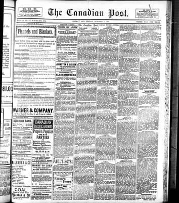 Canadian Post (Lindsay, ONT), 13 Oct 1893