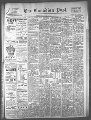 Canadian Post (Lindsay, ONT), 11 Oct 1894