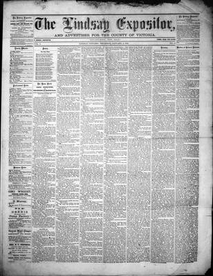 Lindsay Expositor (1869), 6 Jan 1870