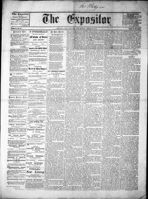 Lindsay Expositor (1869), 25 Apr 1872