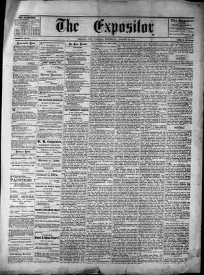 Lindsay Expositor (1869), 22 Aug 1872