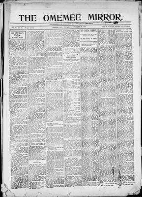 Omemee Mirror (1894), 23 Nov 1899