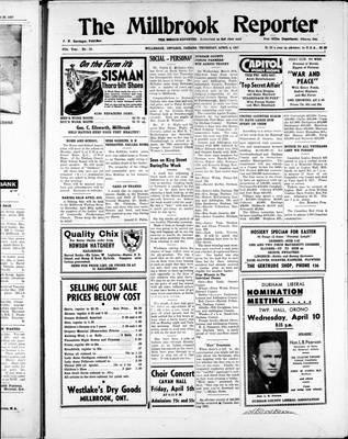 Millbrook Reporter (1856), 4 Apr 1957