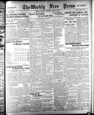Lindsay Weekly Free Press (1908), 7 Jan 1909