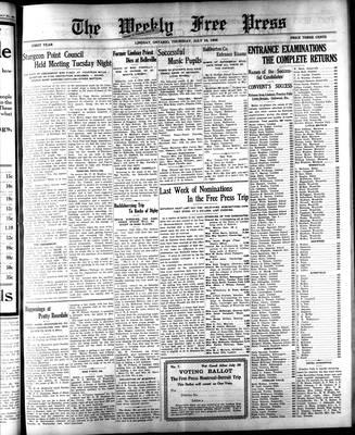 Lindsay Weekly Free Press (1908), 16 Jul 1908