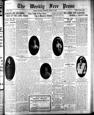 Lindsay Weekly Free Press (1908), 13 Aug 1908