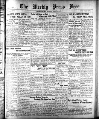 Lindsay Weekly Free Press (1908), 27 Aug 1908
