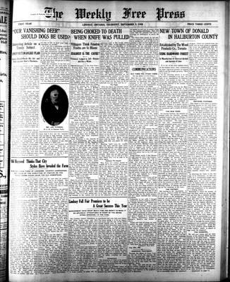 Lindsay Weekly Free Press (1908), 3 Sep 1908