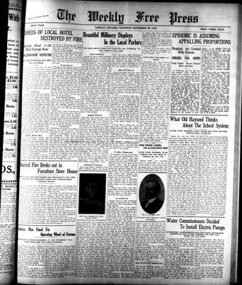 Lindsay Weekly Free Press (1908), 24 Sep 1908