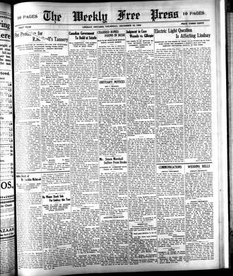 Lindsay Weekly Free Press (1908), 10 Dec 1908