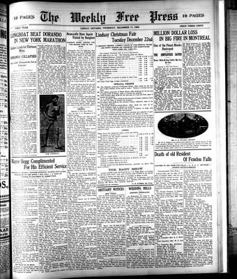 Lindsay Weekly Free Press (1908), 17 Dec 1908