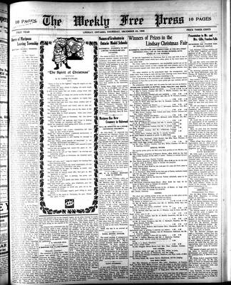 Lindsay Weekly Free Press (1908), 24 Dec 1908