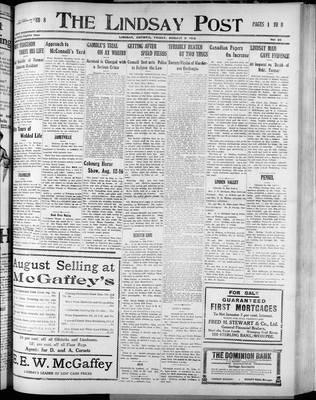 Lindsay Post (1907), 8 Aug 1913