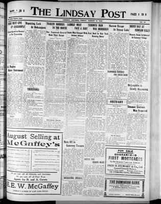 Lindsay Post (1907), 15 Aug 1913