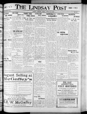 Lindsay Post (1907), 22 Aug 1913