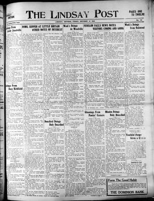 Lindsay Post (1907), 14 Oct 1910