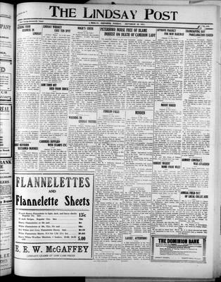 Lindsay Post (1907), 18 Oct 1912