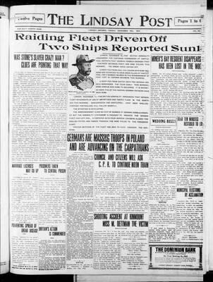 Lindsay Post (1907), 18 Dec 1914