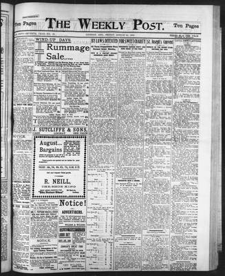 Lindsay Weekly Post (1898), 22 Aug 1902