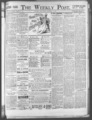 Lindsay Weekly Post (1898), 14 Dec 1900