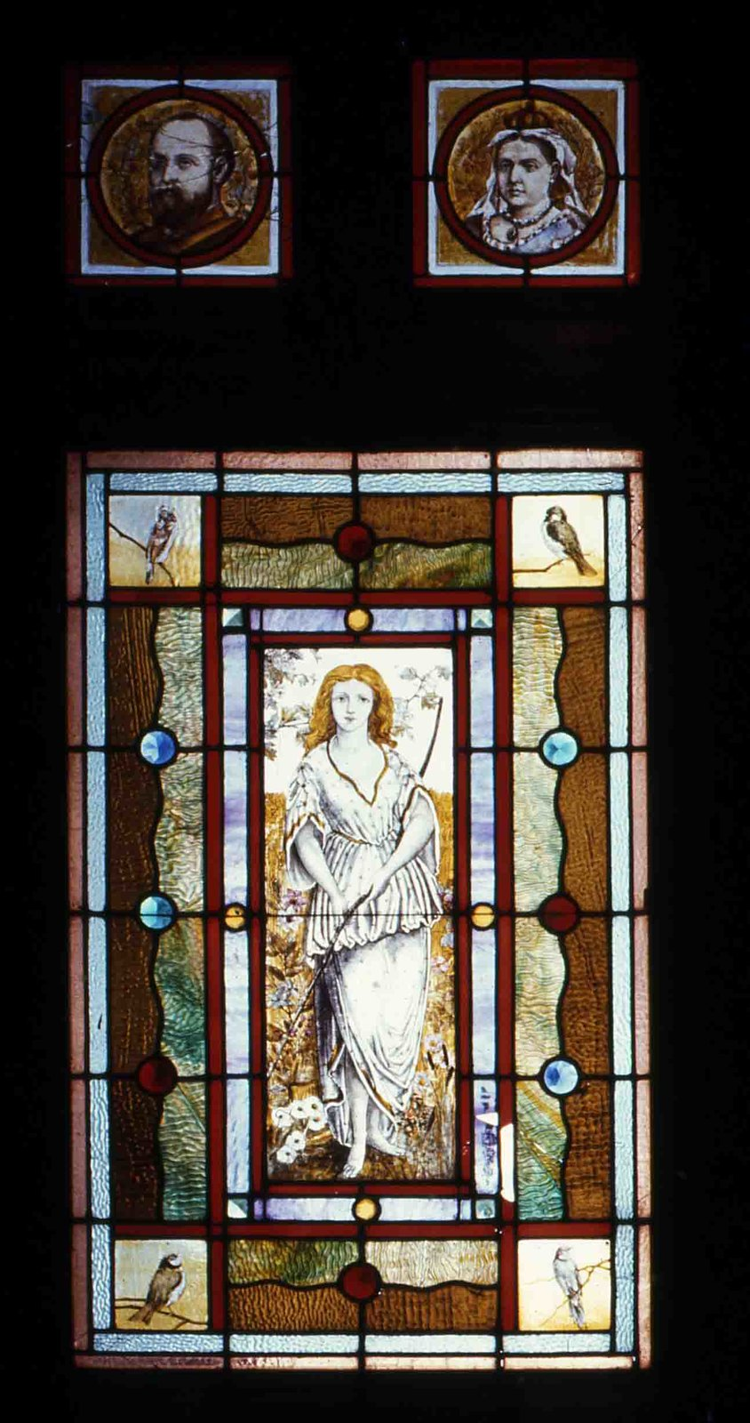 Plate 56, Stained glass door, Sylvester house, Lindsay