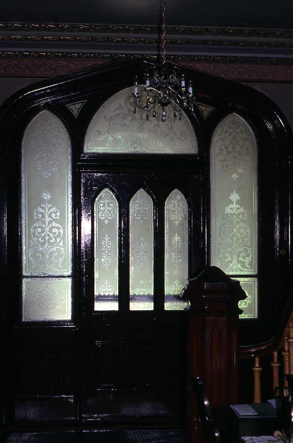 Interior door with transom and sidelights, St. Mary's Church Rectory, Lindsay