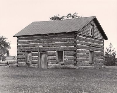 Log cabin, Eldon Township, private dwelling