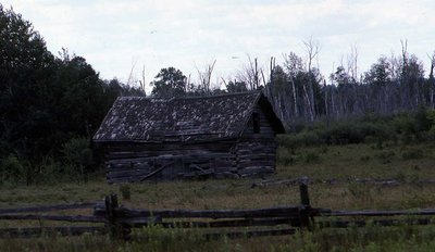 Log cabin, location unknown